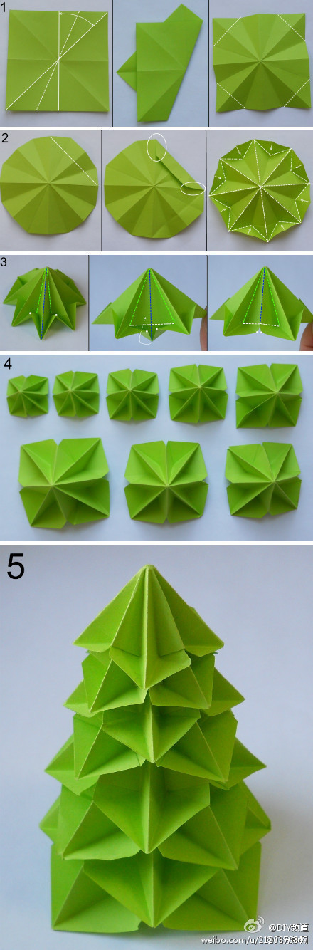 Árbol de Navidad en origami