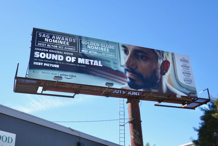 Riz Ahmed Sound of Metal nominee billboard