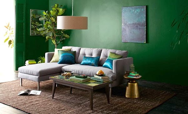 Fotos de sala en color verde  Salas con estilo