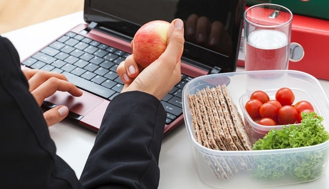 how to eat healthier at work