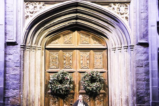 Porte de la grande salle studios Harry Potter