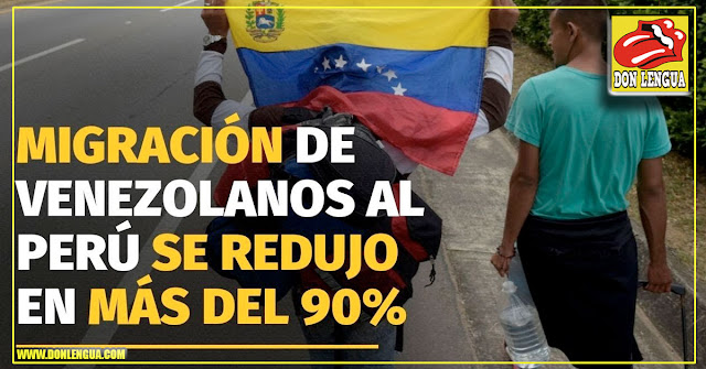 Se redujo migración de venezolanos a Perú en más de un 90%