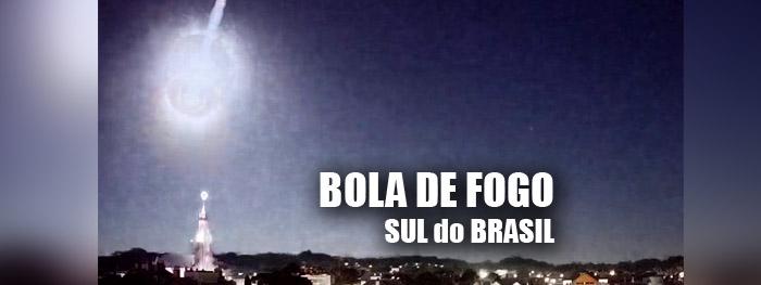 meteoro brilhante bola de fogo sul do brasil em 03 de junho de 2021