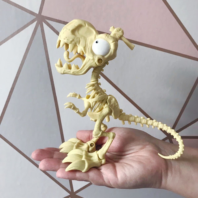 The dino made with the bones