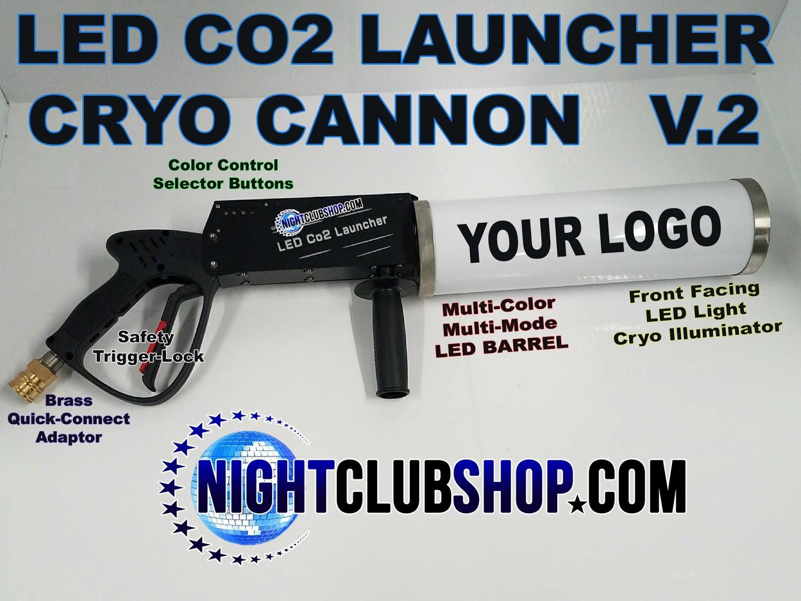 NIGHTCLUB PARTY CO2 CANNON , CO2 GUN , CRYO CO2 PARTY CANNON