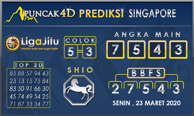 PREDIKSI TOGEL SINGAPORE PUNCAK4D 23 MARET 2020