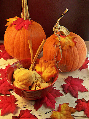 Pumpkin Spice Ice Cream by Cravings of a Lunatic