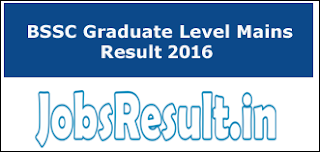BSSC Graduate Level Mains Result 2016