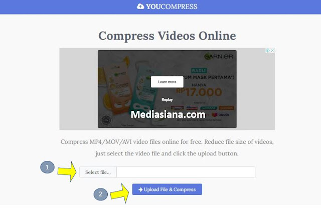 Cara Kompres Video Secara Online