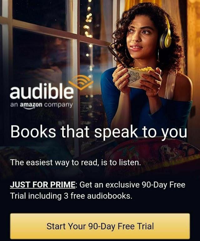 Amazon audible membership free Activation