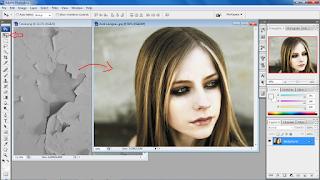 Efek Retak pada wajah menggunakan Photoshop