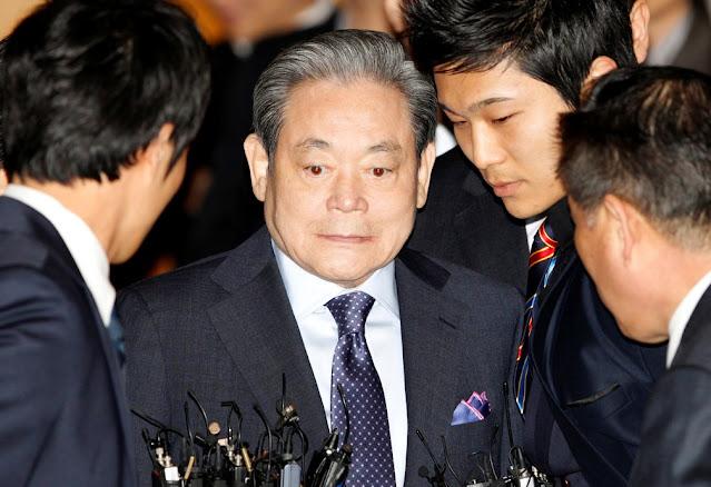 Lee Kun-hee em foto de arquivo, em Seoul, em 10 de março de 2011. — Foto: REUTERS/Lee Jae-Won/File Photo
