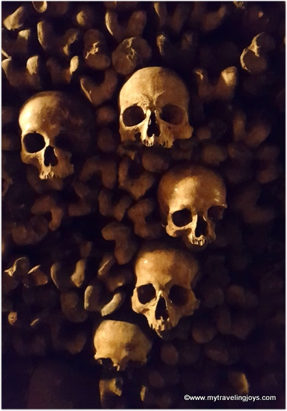 Creepy skulls Catacombs of Paris