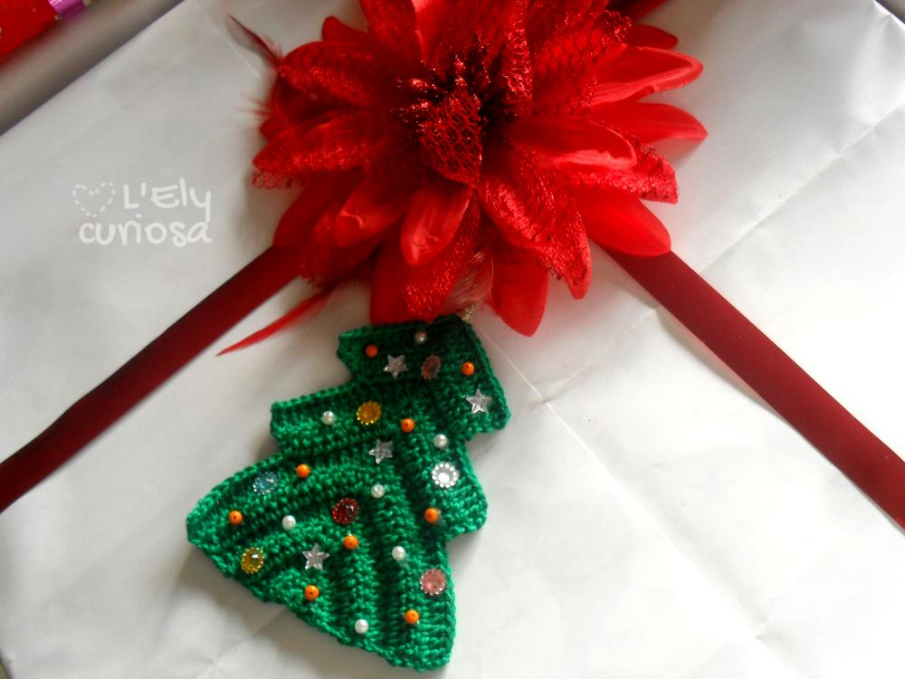 Tag Chiudipacco E Biglietto Dauguri Albero Di Natale A Uncinetto