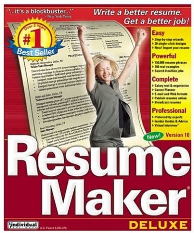 resume maker professional deluxe resumemakerr professional deluxe 18 individual software resume maker professional 16 deluxe edition