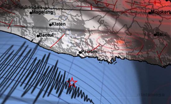 Pagi Ini Pacitan Diguncang Gempa 4 Magnitudo