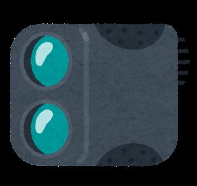 レーザー距離計のイラスト(ゴルフ)