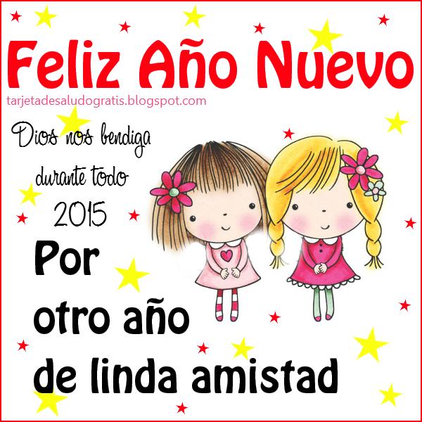 Postal nueva de Feliz Año Nuevo para amigas