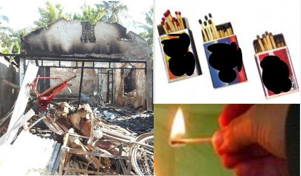 Gara-Gara Lalai Memadamkan Korek Api, Rumah Warga Madureso Kuwarasan Kebumen Ludes Terbakar