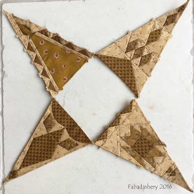 Dear Jane Quilt - Draw 29 - Border Triangles TR6, TR8, BR6, BR8