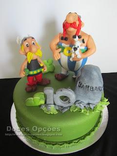 O Asterix e o Obelix no 10º aniversário da Bárbara