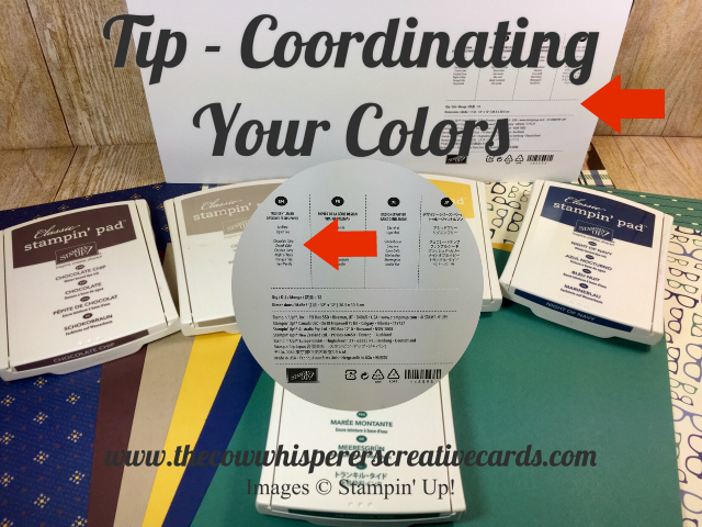 Tip, Coordinating Colors, Designing, Stampin UP