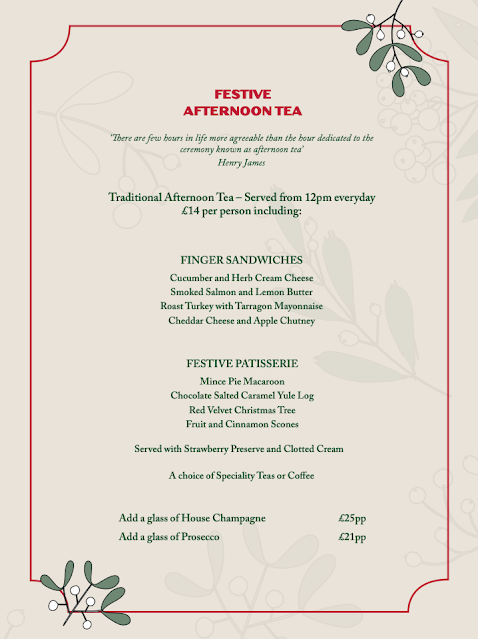 Rudolph's Restaurant Fenwick : Festive Afternoon Tea Menu