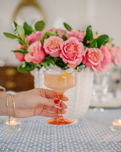Spring Tablescape + Rosé French 75