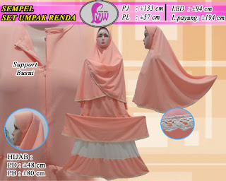Gamis diamond crepe model terbaru set jilbab bergo