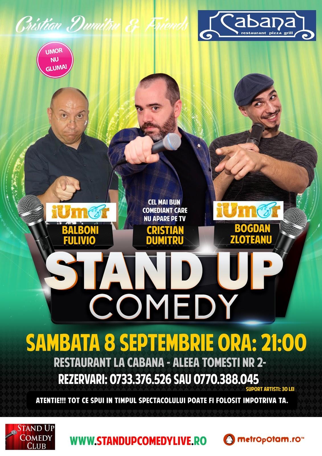 Stand-Up Comedy Bucuresti Sambata 8 Sept