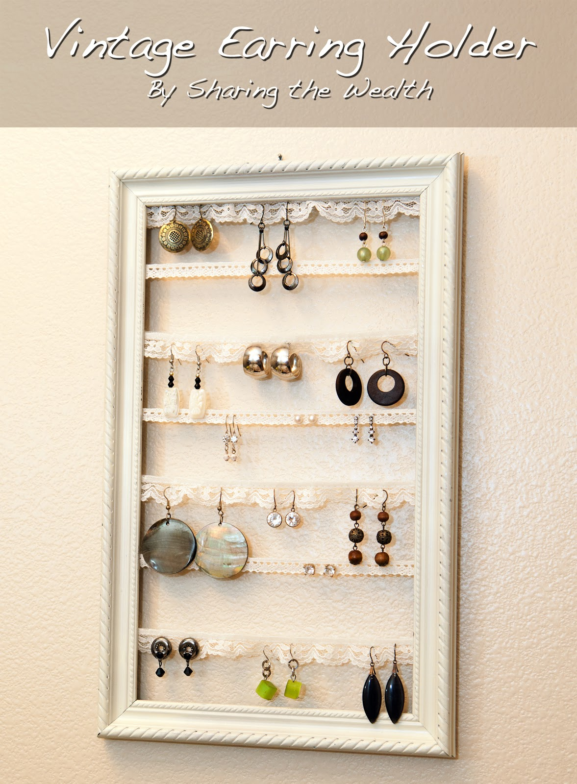 Sharing the Wealth: Vintage Earring Holder