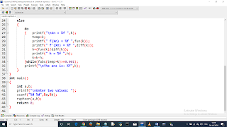 Write a C program to find the root of equation using Newton Raphson Method. Equation: 2x^3-6x^2+6x-1. pic 2