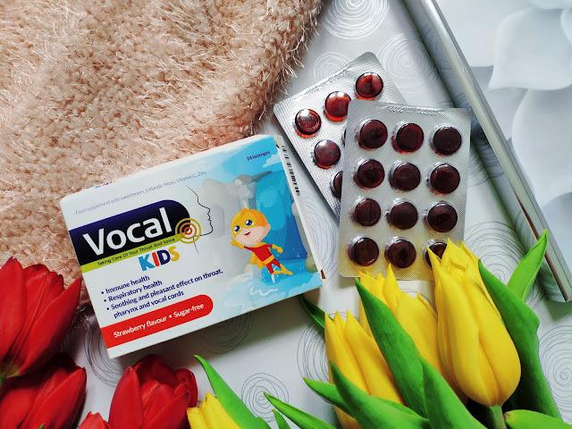 Vocal Kids - Truskawkowe pastylki do ssania dla dzieci
