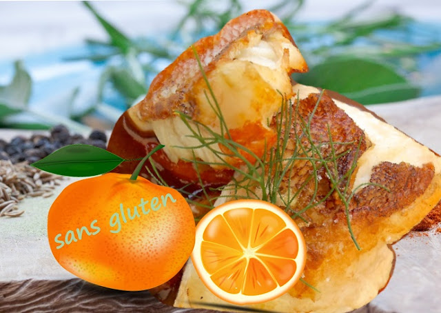 Poisson sauce au jus d'orange, épices et fines herbes, sans gluten