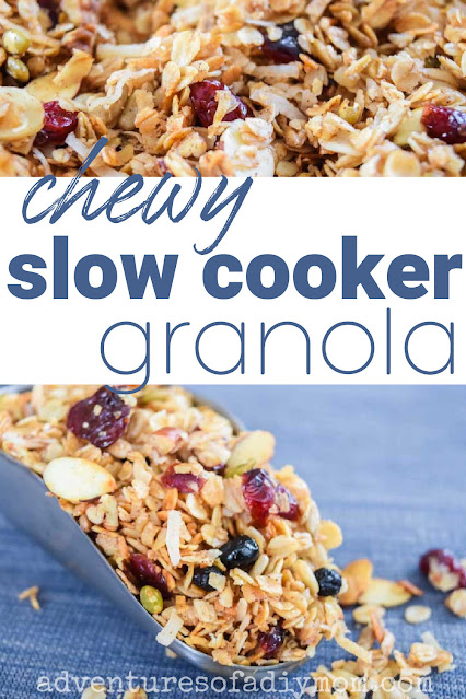 collage of granola images with text overlay