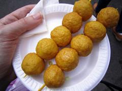 Almond fish balls
