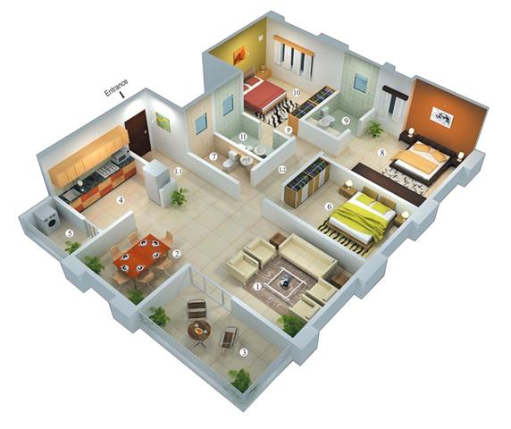 Desain Rumah Minimalis Modern 1 Lantai Dengan 3 Kamar Tidur Wajib Baca