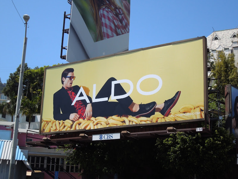 Aldo Shoes bananas male model billboard