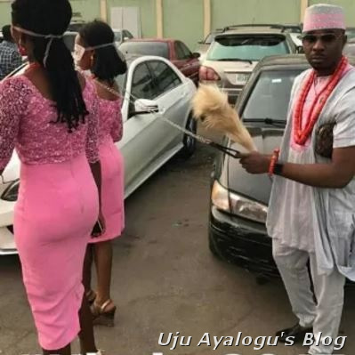 Lagos Big Boy, Pretty Mike Steps Out Again With His 2 Girls In Dog Chains (Photos)