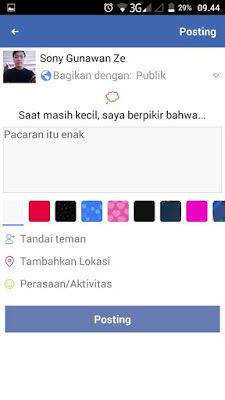 cara membuat status pertanyaan facebook