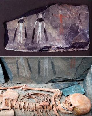 Questi magnifici dipinti sono stati trovati nei Monti Altai.
