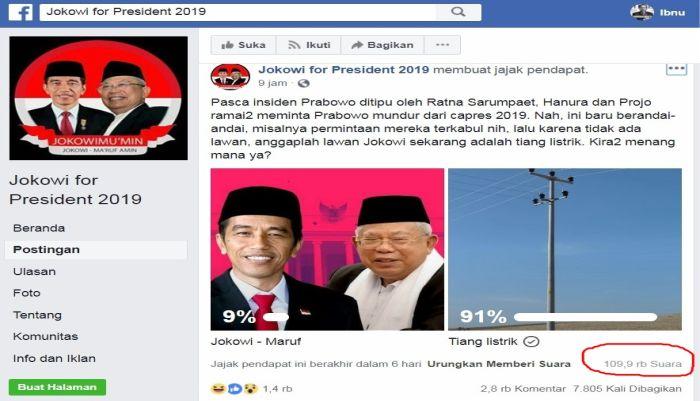 Poling di Kandang Sendiri: Lawan Tiang Listrik, Jokowi - Ma'ruf Kalah Telak!