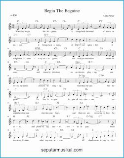 chord begin the beguine lagu jazz standar