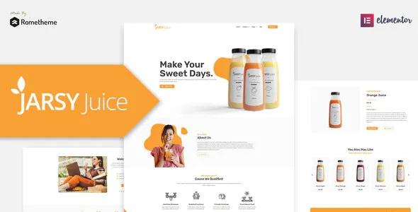 Best Juice Drink Brand Elementor Template Kit