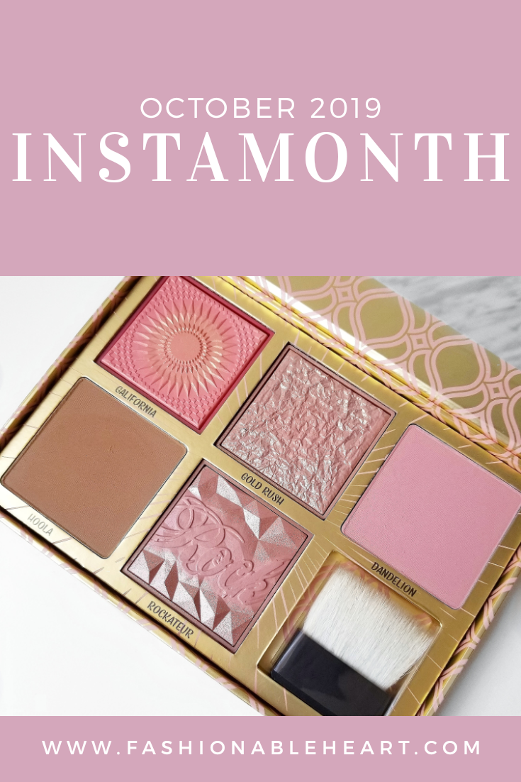 bbloggers, bblogger, bbloggersca, bbloggerca, canadian beauty bloggers, beauty blog, instamonth, instagram, round up, lifestyle, benefit, cheek palette, blush bar, blush, gold rush, dandelion, hoola, rockateur, galifornia