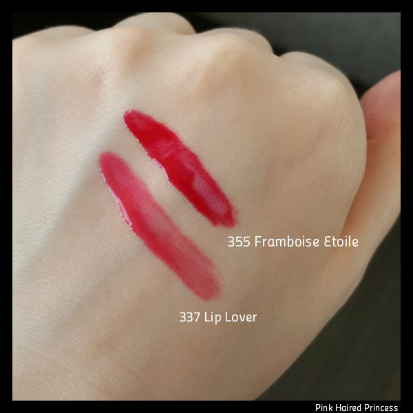 lancome lip lover and framboise etoile swatches