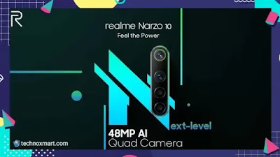 realme narzo 10, realme narzo 10a teased with 48mp quad rear camera