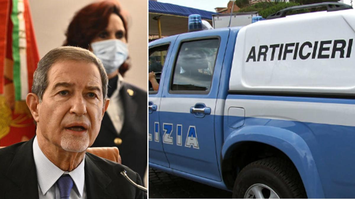 pacco bomba Militello Val di Catania biglietto minacce Musumeci