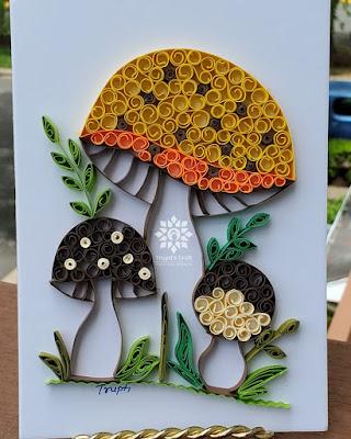 Paper Quilling Mushroom