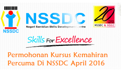 Permohonan Kursus Kemahiran NSSDC April 2016